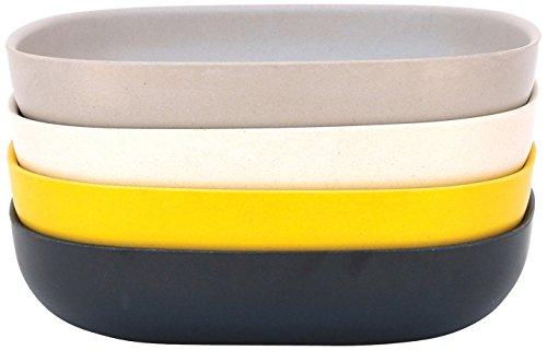 BIOBU-gusto-by-eKOBO-34604-assiette-creuse-en-1-noirgrisblancjaune-citron