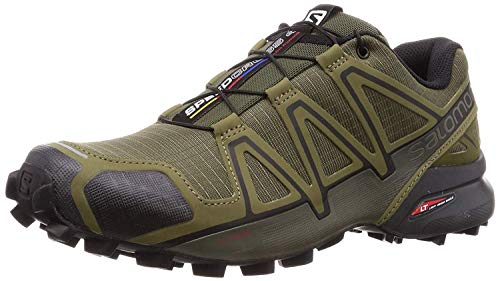Salomon Herren Speedcross 4 Trailrunning-Schuhe, Grün (Grape Leaf/Burnt Olive/Black), 44 EU