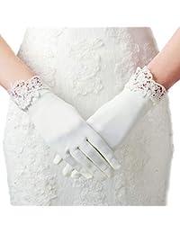 Kurze Damen Satin-Handschuhe Oper Parteikostüm Hochzeit Braut Prom Frauen