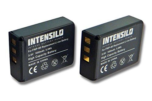 2x batteria intensilo li-ion 1600mah (3.6v) per videocamera camcorder toshiba camileo x200, x400, x416 hd, x416hd, z100 come np-85, cb170, pa3985.