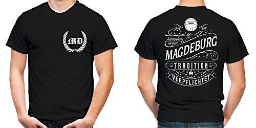 Mein leben Magdeburg T-Shirt | Freizeit | Hobby | Sport | Sprüche | Fussball | Stadt | Männer | Herren | Fan | M1 FB