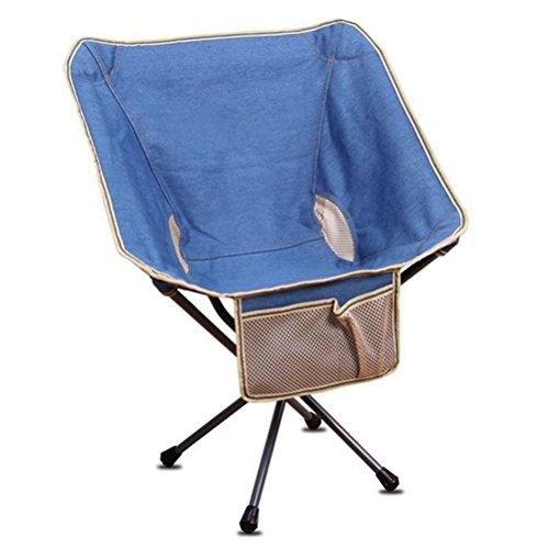 HRRH Outdoor Portable Klappstühle Rucksack Stuhl Mini Zurück Stuhl Strand Camping Stuhl Tragende: 150 kg Blau (Blau Frühstück Kissen)