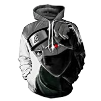 Naruto Cosplay Anime Costume 3D Hoodie Autumn Couple Sweater Zip Up Hoodie Sports Sweater with Pocket for Women and Men