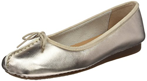 fafc73c8 Clarks Women's Freckle Ice Ballet Flats, Gold (Gold Metallic), 5 UK - Buy  Online in Oman. | Shoes Products in Oman - See Prices, Reviews and Free  Delivery ...