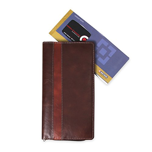 Gopani Expanding Cheque Book Holder Travelling Document Bag(Set Of 12),Brown  available at amazon for Rs.199