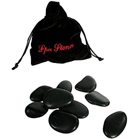 Set de 9 piedras calientes para masajes