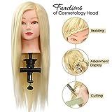Mannequin Perruque Femme Naturel Luckyfine -26'Halloween Or Blonde-Avec Mannequin...