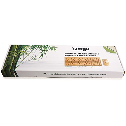 kabellose Bambus Tastatur und Maus - 8