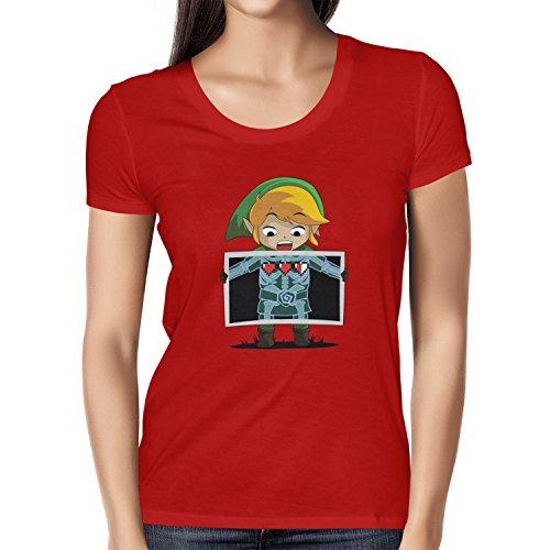 TEXLAB - X-Ray Link - Damen T-Shirt Rot