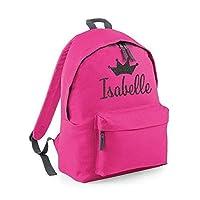 Personalised Crown Name Backpack Rucksack School bags Girls Personalised Bags Princess Bags