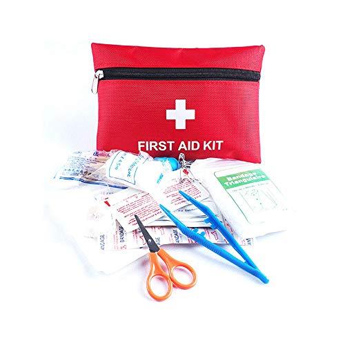 Longwing Botiquín de Primeros Auxilios, Kit de Supervivencia Portátil para Situaciones de Emergencia en el Hogar, Automóvil, Deportes, Viajes, Etc. (Rojo)