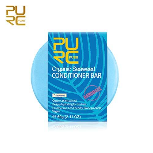 Awfand Seaweed Hair Shampoo Bar, Anti-Schuppen- und Nourish Hair-Haarseife, silikonfreie Pflanzenessenz für trockenes, fettiges und strapaziertes Haar