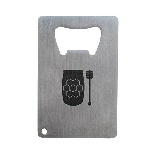 Honigtopf Flaschenöffner, Edelstahl Kreditkarte Größe, Flaschenöffner für Portemonnaie, Kreditkarte Größe Flaschenöffner