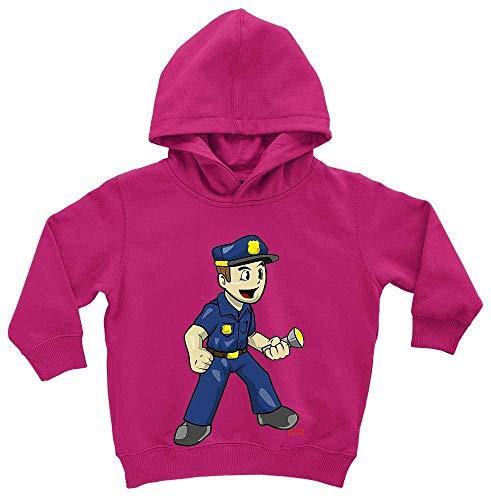HARIZ Baby Hoodie Polizist Witzig Taschenlampe Polizei Cops Plus Geschenkkarten Einhorn Fuchsia 1-2 Jahre -