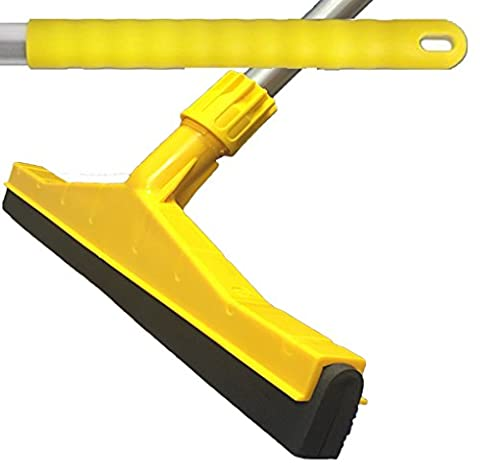 Yellow Professional Hard Floor Cleaning Hygienic Squeegee with Strong Alloy