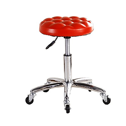 Trre@ sgabello da bar/sgabello da bar/sgabello da bar alto/poltrona da parrucchiere/sgabello da bar/parrucchiere poltrona da parrucchiere/sedia girevole per computer (colore : rosso)
