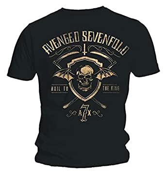 Avenged Sevenfold Hail To The King Shield & Sickle Official Mens T Shirt (S)