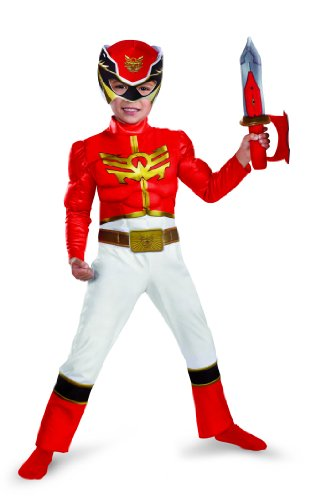 Disguise Power Rangers Megaforce Rot Ranger Muscle Kostüm (Power Ranger Rotes Megaforce Kostüm)