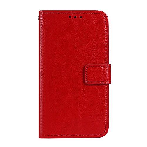 CiCiCat OUKITEL K5 Hülle Handyhüllen, Flip Back Cover Case Schutz Hülle Tasche Schutzhülle.(5.7'', Rot)