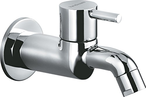 Hindware-F280002CP-Flora-Bib-Tap-With-Wall-Flange-Chrome