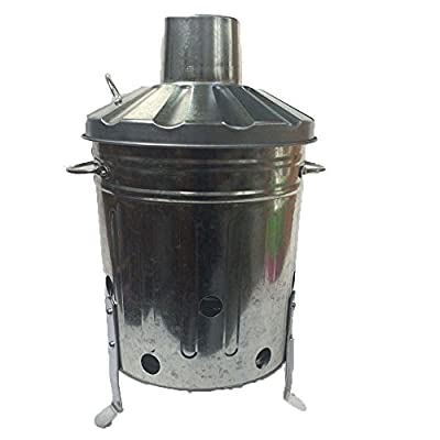 15 Litre 15l Small Mini Galvanised Metal Incinerator Recycle Garden Rubbish Fire Burning Binwith Free Shovel from UK