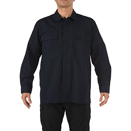 5.11Tactical # 72002Ripstop TDU Long Sleeve Shirt XXXL Dunkles Marineblau