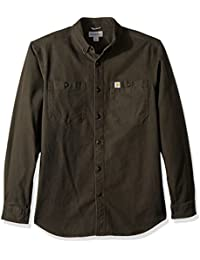 5a95a272d01 Carhartt Men Long-Sleeve Shirt Rugged Flex Rigby