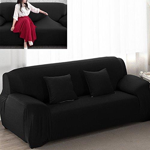 3 Sitzer Sofabezug Sesselbezug Elastisch Verfügbar In Verschiedenen Größen Schwarz,Gr.L 195-230cm