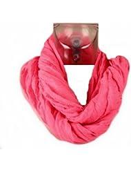 Foulard Snood Tube Cheche - Fluo Uni Rose - Tendance Collection Printemps Eté 2013 - 85 cm x 80 cm
