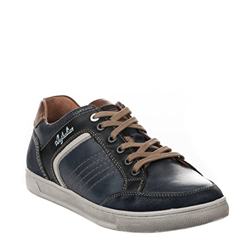 Australian Maddison Leather, Chaussures à Lacets Homme Bleu