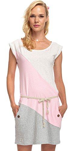 Ragwear Damen Jerseykleid rosa S