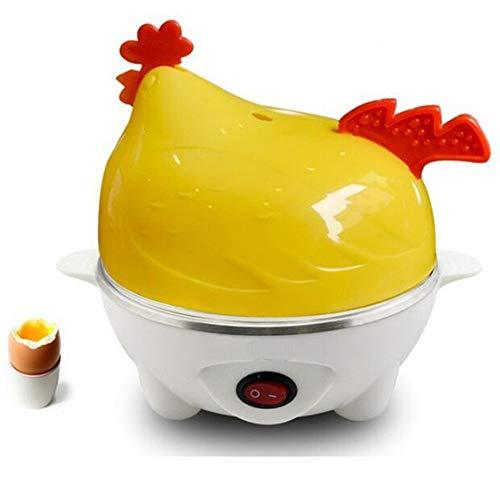 Mini Eierkocher 7 eier Egg Steamer Multifunktions Haltbar Hen Bild Automatische Abschaltung Einschicht Gelb