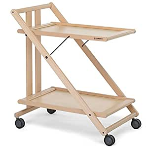 foppapedretti sprint folding serving trolley natural