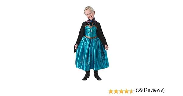Ragazze Disney congelato INCORONAZIONE Elsa Principessa Libro Giorno Costume Vestito