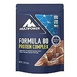 Multipower Formula 80 Protein Complex - Mehrkomponenten Protein Pulver für den Muskelaufbau - Proteinpulver mit Casein für eine langfristige Versorgung - mit cremigem Schokoladen Geschmack - 510 g