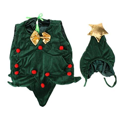 MagiDeal Neugeborenes Baby Weihnachtsbaum Kostüm Neuheit Weihnachten Fantasie Fotografie (Wenig Weihnachtsbaum Kostüme)
