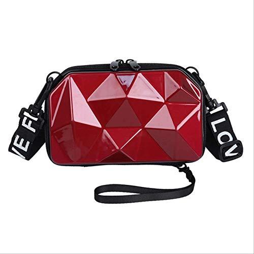 ZQHY UmhängetascheKleine Umhängetasche Damen 2019 Mini Crossbody Designer Handtaschen Hochwertige Umhängetasche Damen 18Cm 10Cm 6Cm Burgund -
