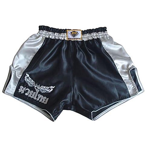 KM Muay Thai Hose Kickboxen MMA Gym Shorts Damen Herren X-Large (Waist 32
