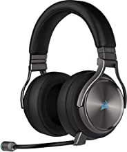 Corsair Virtuoso RGB Wireless Alta Fedeltà Cuffia Gaming, 7.1 Surround Audio, Compatibili con PC e PS4, Grigio