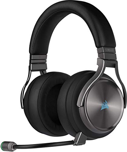 Corsair Virtuoso RGB Wireless SE High-Fidelity Gaming Headset (Slipstream Technologie, 7.1 Surround Sound, iCUE RGB, für PC, Xbox One, PS4, Switch und Mobilgeräte) Gunmetal
