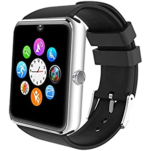 ALL SHOP - Reloj inteligente Android iOS con pantalla táctil, con ranura para notificaciones para iPhone, Samsung y… 9