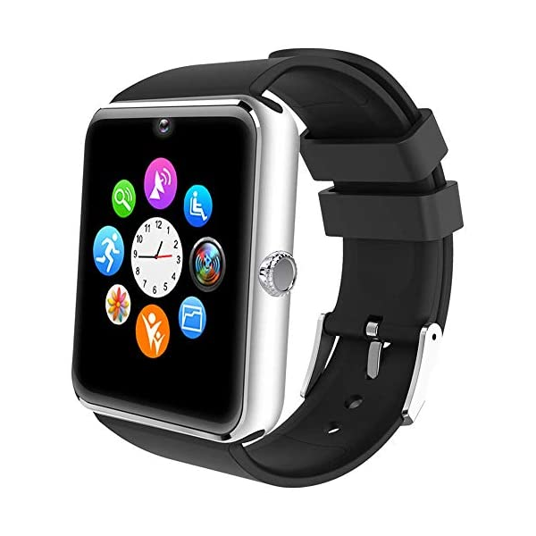 ALL SHOP - Reloj inteligente Android iOS con pantalla táctil, con ranura para notificaciones para iPhone, Samsung y… 1