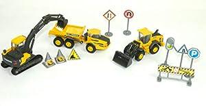 New Ray 33063 Ass - Juego de 3 Piezas de construcción Volvo y Accesorios para camión en Miniatura