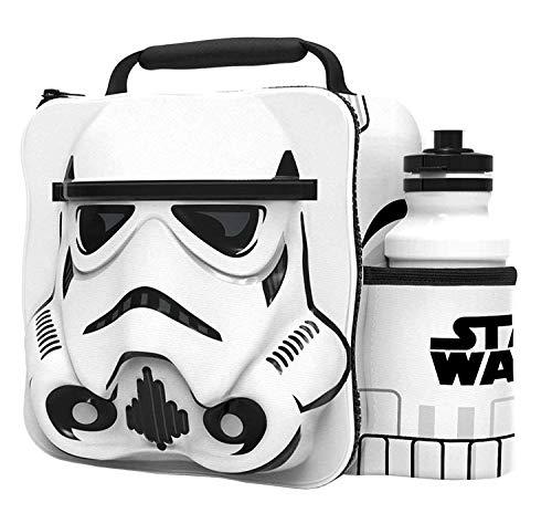 STORM TROOPER Kinder Kinder 3D Lunchbox Tasche Mit Sport Wasserflasche