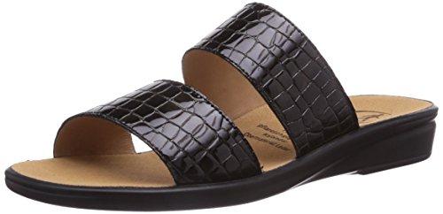 Ganter Sonnica, Weite E, Chaussures de Claquettes femme Noir (schwarz 0100)