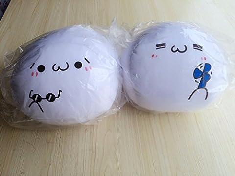 DIDIDD Plüschtiere Mädchen Schöne Kleine Mini von Kreative und Böse Geek Qq Ausdruck Paket Kissen Lovely,Gläser, 40Cm-49Cm