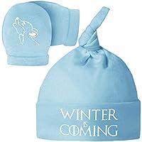 Pack Gorro y Manoplas recién Nacido. Winter is Coming. Parodia Juego de  Tronos - aa05355636e