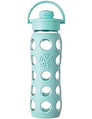 Lifefactory - Botella de cristal (con tapa con bisagra, 650 ml)
