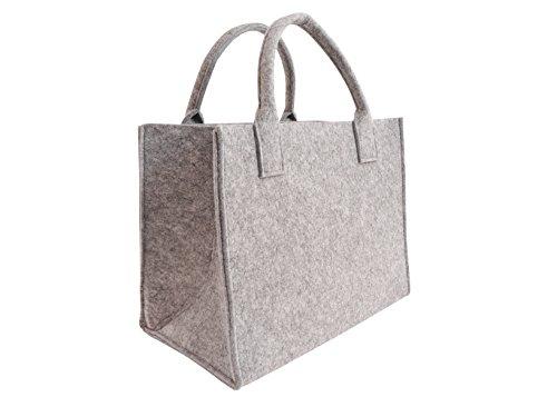 CB Home & Style Filztasche Einkaufstasche Tasche Shopper ca. 35 x 20 x 28 cm (Hellgrau)