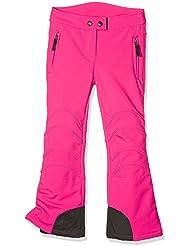 Killtec OFARA Jr–Pantalón Soft Shell con Protección cuadradas niña, color 00937 - neon-Rose, tamaño FR : 128 (Taille Fabricant : 8 ans)